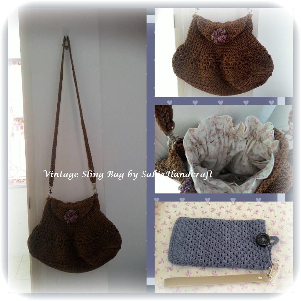 Sling bag crochet - Vintage Sling Bag By Sabiehandcraft